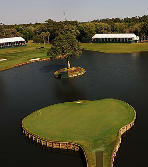 The hole 17th at TPC Sawgrass.