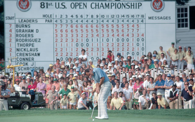 David Graham on the 72nd hole of the 1981 US Open held at the Merion Golf Club.
