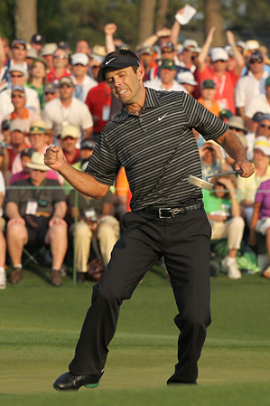 Schwartzel's clutch chip-in on the first hole was the first step on his way to victory.
