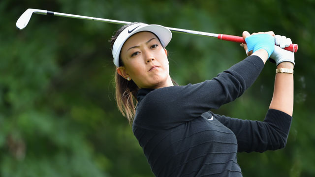 Michelle Wie at the Evian Championship pro-am on Wednesday. Wie withdrew from the tournament after 13 holes Thursday.