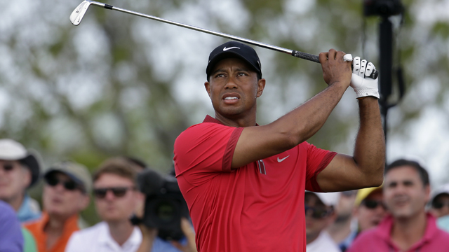 Tiger Woods tied for 25th in the last tournament he appeared in, the WGC-Cadillac Championship at Doral.