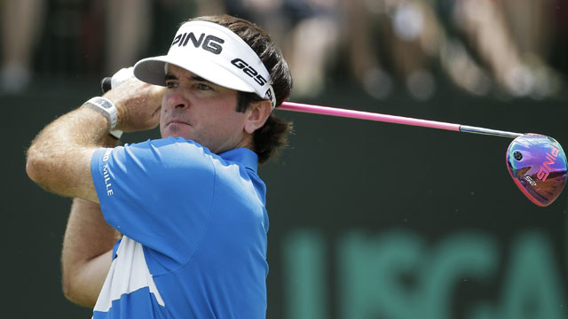 Bubba Watson leads all PGA golfers in driving distance this season.