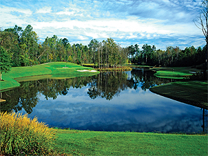 Jack's greatest hits: The opening hole at Bear's Best in Suwanee, near Atlanta.