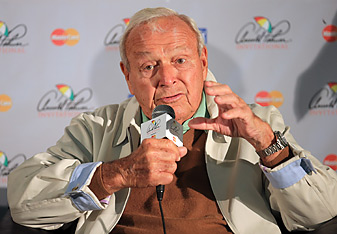 Arnold Palmer spoke at a press conference on Wednesday at Bay Hill.