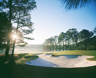 The par-4 first hole at Augusta National.
