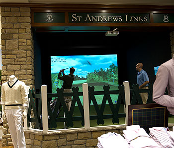 Fore! Customers at Brooks Brothers in New York can now play St. Andrews while they shop.