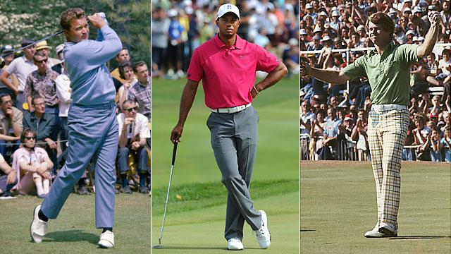 Raymond Floyd, Tiger Woods and Tom Watson.