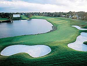 The 18th hole at Bay Hill