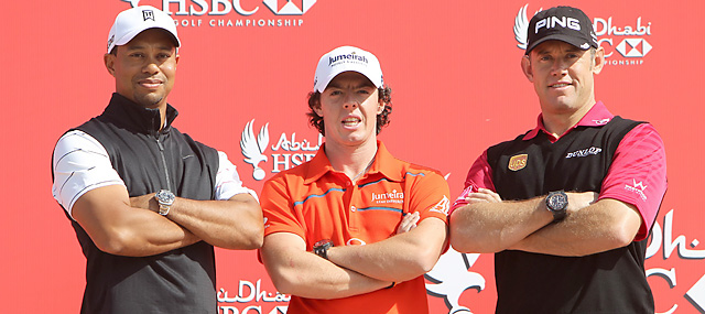 Tiger Woods, Rory McIlroy and Lee Westwood are three of the big guns in the field this week in Abu Dhabi.