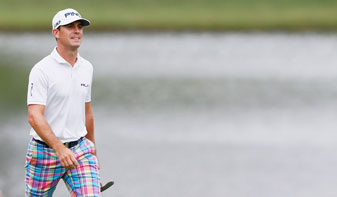 Billy Horschel walks up the 18th fairway during the final round of the Tour Championship at East Lake.