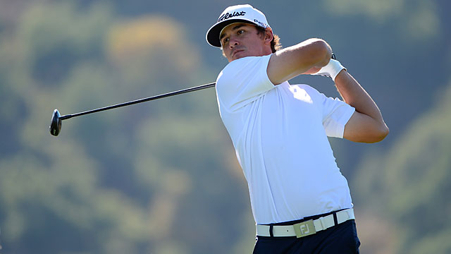 In his first regular PGA Tour event, Brooks Koepka is a win away from a two-year PGA Tour exemption.