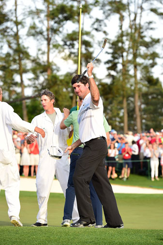 Bubba Watson celebrates his Masters victory.