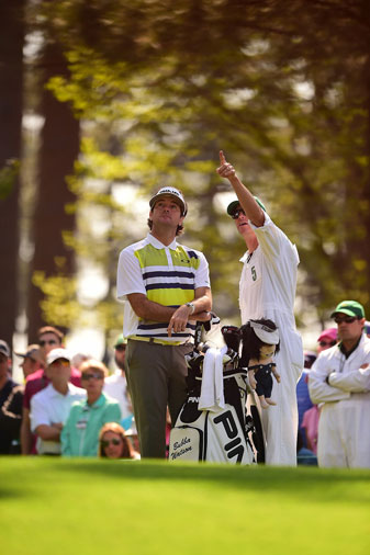 """This whole year is about rejoicing,"" says Bubba Watson. There will be plenty more if he continues the play that has him ahead by three shots at the Masters."