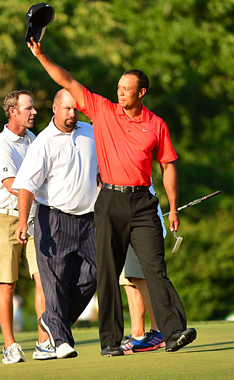 Tiger Woods won the AT&T by two shots for his third PGA Tour win of the season and 74th of his career.