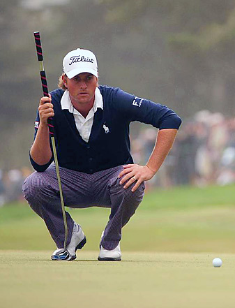 Webb Simpson is one of three major champions in the past two years to win while using an anchored putting stroke.