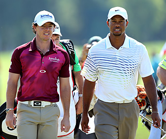 Rory McIlroy and Tiger Woods have spent a lot of time together inside the ropes in the second half of 2012.
