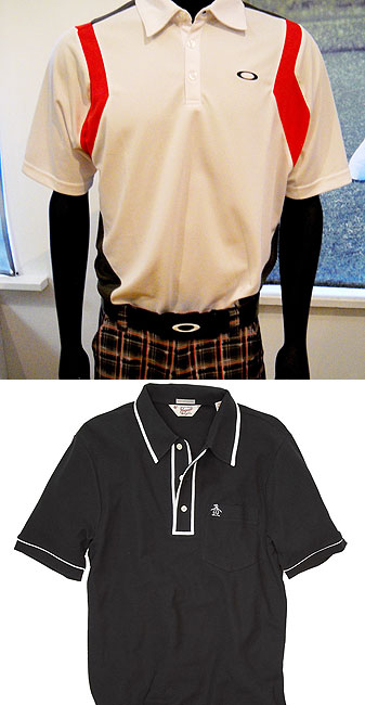 Top: Oakley's O shirt and Swagger pants. Below: Original Penguin's Earl shirt
