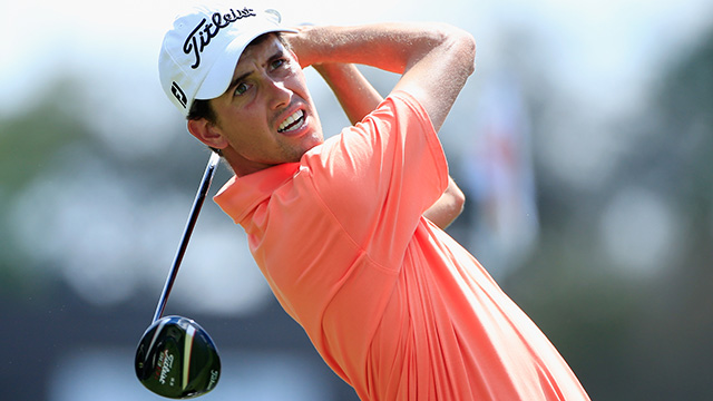 Chesson Hadley (pictured) and Ryan Palmer are the only two players with a chance to move into the top 50 at the Valero Texas Open.