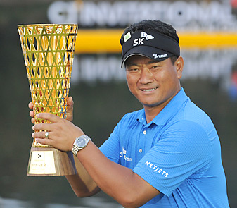 K.J. Choi successfully defended his title in his own Asian Tour event.