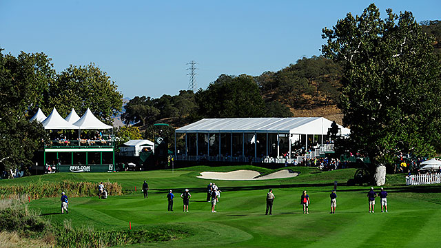 "A new wraparound schedule means that the pros are drifting back to the golf course (CordeValle, pictured, for the Frys.com Open) after an 18-day ""offseason."""