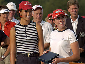 Creamer (<i>right</i>) and Wie shared low-amateur honors at the 2004 U.S. Open.