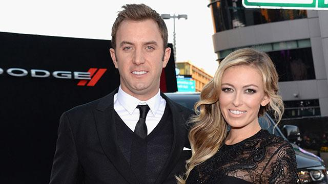 Dustin Johnson and Paulina Gretzky on the red carpet at the 2013 American Music Awards.