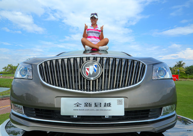 Danielle Kang will need extra room in her garage after recording her second ace in eight days Friday in the LPGA Taiwan Championship.