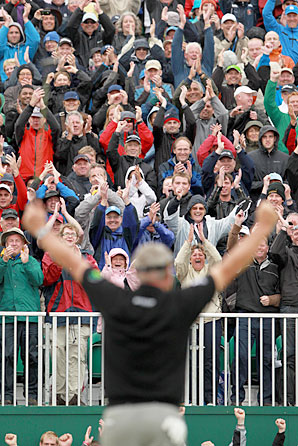 Crowd-favorite Darren Clarke won his first major championship at the British Open Sunday.