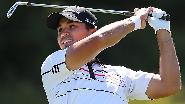Jason Day shot a 66 to grab the lead heading into Sunday's final round at the World Cup.