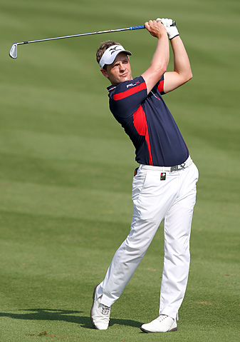 Luke Donald shot a 66 on Sunday in Dubai to finish in third place in the event.