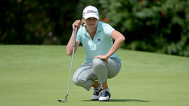 Dori Carter's 8-under 64 on Friday was her lowest score ever in a competitive round.