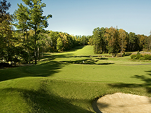 The 15th hole at the Rees Jones-designed layout at Duke.