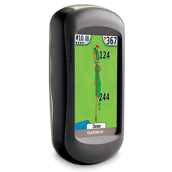 """<p><strong>Garmin Apprach G5</strong><br />                 $499; <!--  --><a target=""""_blank"""" class=""""articlelink"""" href=""""http://www.garmin.com"""">garmin.com</a><!-- / --><br />                 <strong>The Upside:</strong> No need for pesky                 downloads. The Approach G5                 comes with thousands of preprogrammed                 courses, so unlike its                 main competitors, it's good to go                 out of the box. The touch-screen                 display allows you to dial in distances                 without any awkward fumbling.</p>                                  <p><strong>Something else you should                 know:</strong> The satellite mapping of                 pre-downloaded courses (as                 with many GPS gizmos) may not                 include the latest course changes.</p>"""