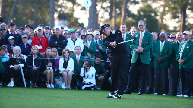 Gary Player flushes his ceremonial opening drive Thursday.