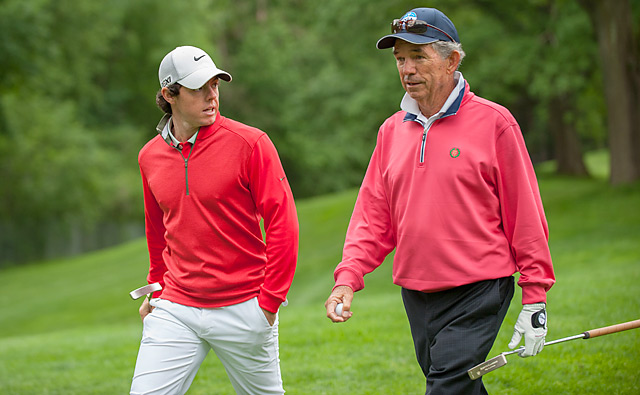 Many pros will no doubt line up to pick the brain of longtime Oak Hill head pro Craig Harmon, including defending champ Rory McIlroy, shown here in June.