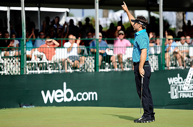 Former Masters champion Trevor Immelman made a 12-foot birdie putt on the final hole for a 6-under 66 and a one-stroke victory over Patrick Cantlay.