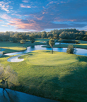 The 410-yard 5th hole at Innisbrook's Highland North Course.