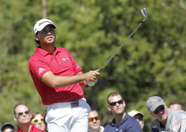 Jason Day has a share of the Deutsche Bank lead.