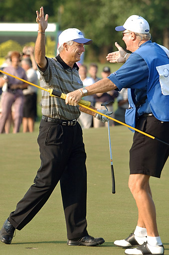"""Jim Ahern, who has won twice on the Champions Tour, credits his ADD with allowing him to """"super-focus"""" on the course."""