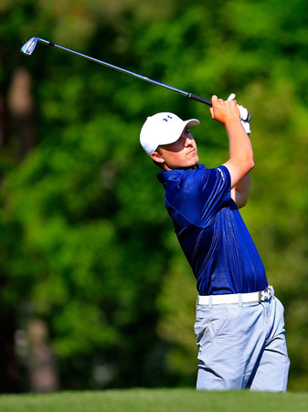 Jordan Spieth shares the lead headed to the final round at the 2014 Masters.