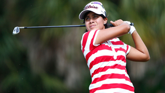 Julieta Granada at the third round of the CME Group Tour Championship.