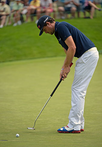 For the first time in four years, Keegan Bradley did not use a belly putter.