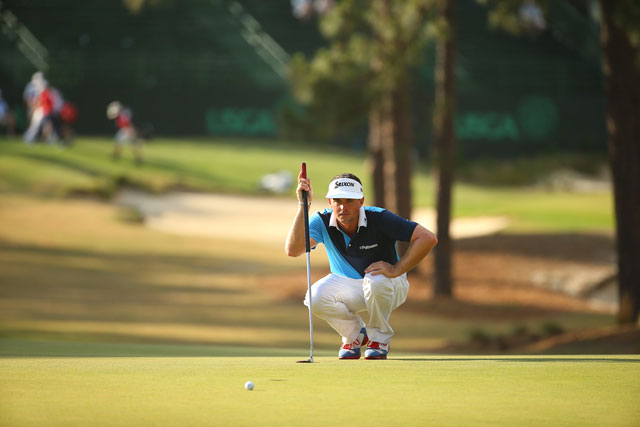 Keegan Bradley tied for fourth in last week's U.S. Open with an anchored putter.