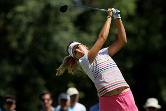 Lexi Thompson shot a 78 in the final round last year.