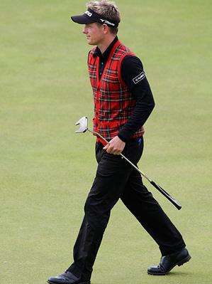 Luke Donald wearing Polo RLX apparel at 2009 British Open