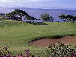 The gorgeous Challenge at Manele is set high above Lanai's Hulopo'e Bay.