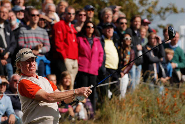 Miguel Angel Jimenez finished second to Joost Luiten at last year's KLM Open.