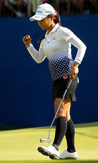 Ai Miyazato made 5-foot birdie putt on No. 18 to win the title.