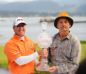 D.A. Points and Bill Murray won the team competition at Pebble Beach in 2011.