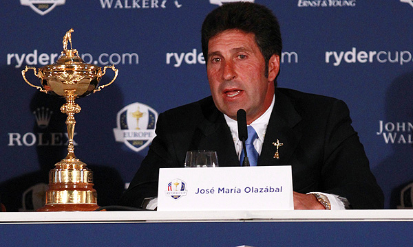 Jose Maria Olazabal announces his captain's picks for the 2012 Ryder Cup.